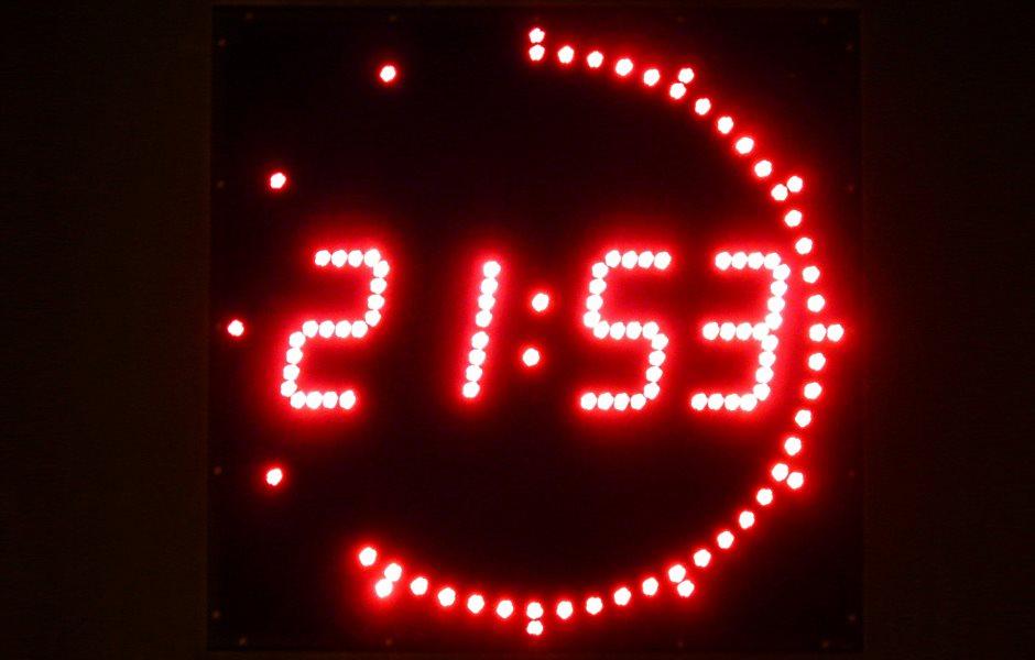 Digital Signage Uhrzeit