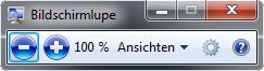 Shortcuts Bildschirmlupe
